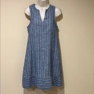 Cremieux linen blend dress